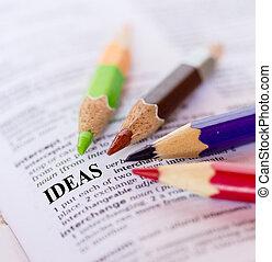 Text the word IDEAS