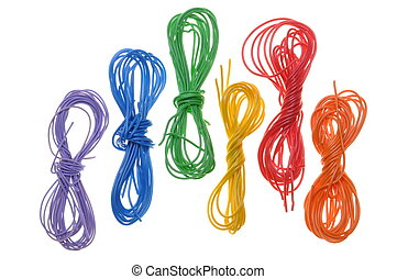 Rest of electrical wire in different colors
