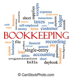 Bookkeeping Word Cloud Concept