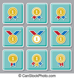 Medal sign vector