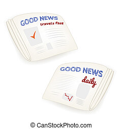 "Vector ""Good news daily"" newspaper"