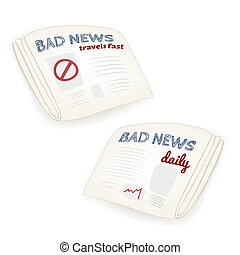 "Vector ""Bad news daily"" newspaper"