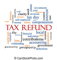 Tax Refund Word Cloud Concept with great terms such as...