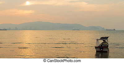 Sunset fisherman village - Fisherman village in Penang...