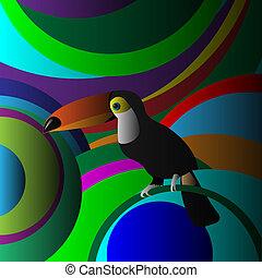 Decorative Toucan. Vector EPS10