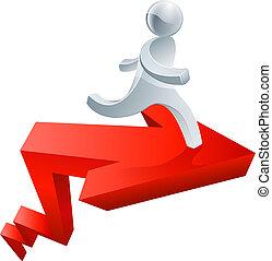 Achievement concept - Conceptual illustration of a...