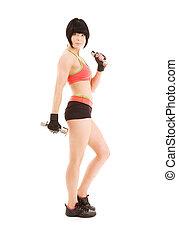 instruktör, Hantlar, muskulös,  fitness