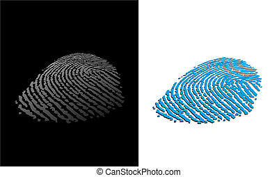 fingerprint - an abstract illustration of two different...