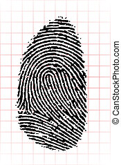 fingerprint - an abstract illustration of a black...