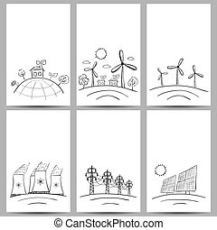 Power station energy banners - Power station energy doodles...