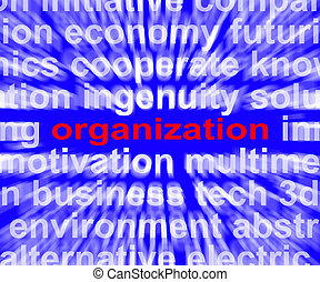 Organization Word Shows Institution Or Be Organized -...