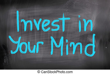 investir, em, seu, mente, conceito