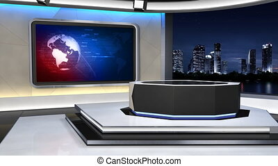 News Studio_99C2 - This is a 3d News studio It contains...