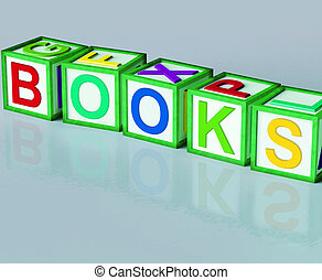 Books Blocks Shows Novels Non-Fiction And Reading - Books...