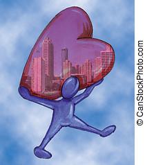 little man,heart, a city