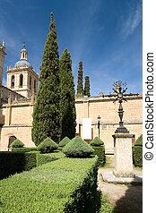 Gardens of the cathedral of Ciudad Rodrigo, Salamanca (Spain)