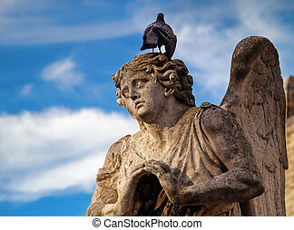 Palais des Papes, Avignon, France - Architectural detail in...