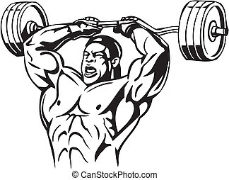 Bodybuilding and Powerlifting - vector - Bodybuilding and...