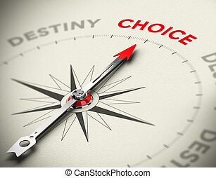 Taking Control of your Life - Abstract compass with needle...