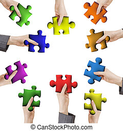 working together - Concept of help or working together,...