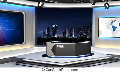 News Studio_99C3 - This is a 3d News studio. It contains...