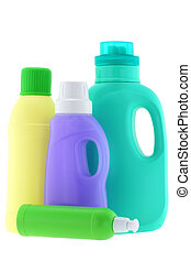 Washing Liquid, Detergent, Bleach - Bottles of Washing...