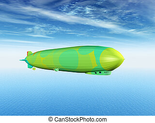 Airship - Computer generated 3D illustration with an Airship