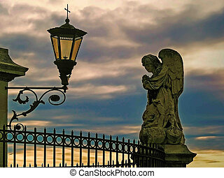 The Popes' palace in Avignon, France - Architectural detail...
