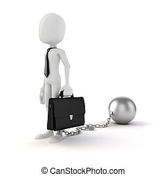 3d man businessman business concept