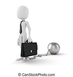 3d man businessman business concept