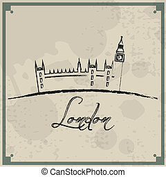 London Retro Background - Abstract vintage background...