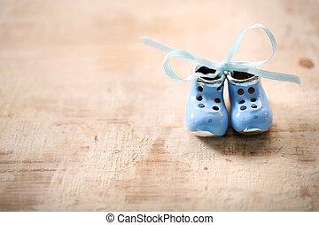 pequeno, Porcelana, sapatos