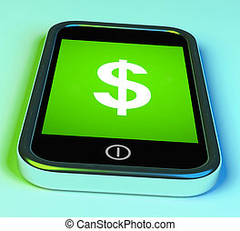 Dollar Sign On Phone Shows $ Currency
