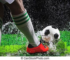 futbol, fútbol, jugadores, patear, futbol, Pelota,...