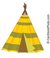 Home wigwam - Home american indian wigwam on white...