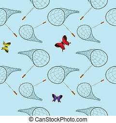 butterfly net pattern, abstract seamless texture, vector art...