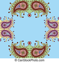 ornamental floral paisley pattern