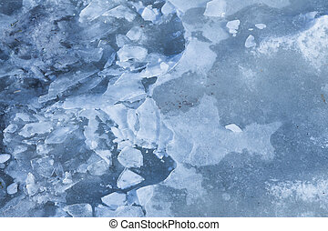 fragile thin ice - thin brittle surface ice cold spring...