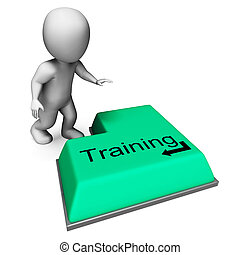 Training Key Shows Induction Education Or Course - Training...