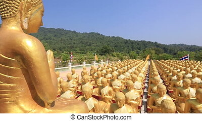 Golden Buddha is the Buddha Memorial Park MakhaBucha,...
