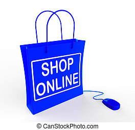 Shop Online Bag Shows Internet Shopping and Buying - Shop...