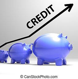 credito, flecha, medios, préstamo, deuda, y,...