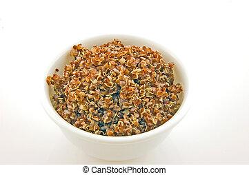 taza, cocinado, Quinoa