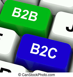 B2B And B2C Keys Meaning Business Partnerships Or Consumer...