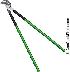 Pruning loppers - Tool for cutting twigs of trees with long...