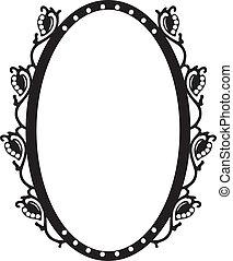 Vintage oval frame