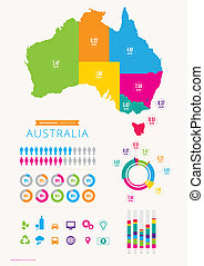 Australia Infographics - An info graphic of Australia with...