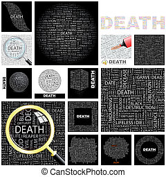 Death Concept illustration - Death Word cloud illustration...