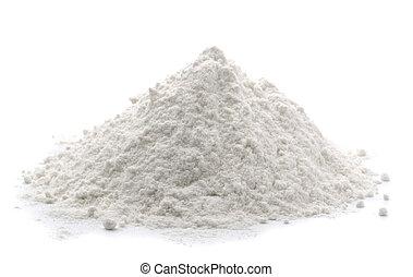 Flour - Pile of wheat flour isolated on white