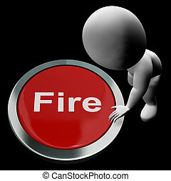 Fire Button Means Emergency Evacuation And 111 - Fire Button...